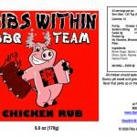 Chicken Rub Label